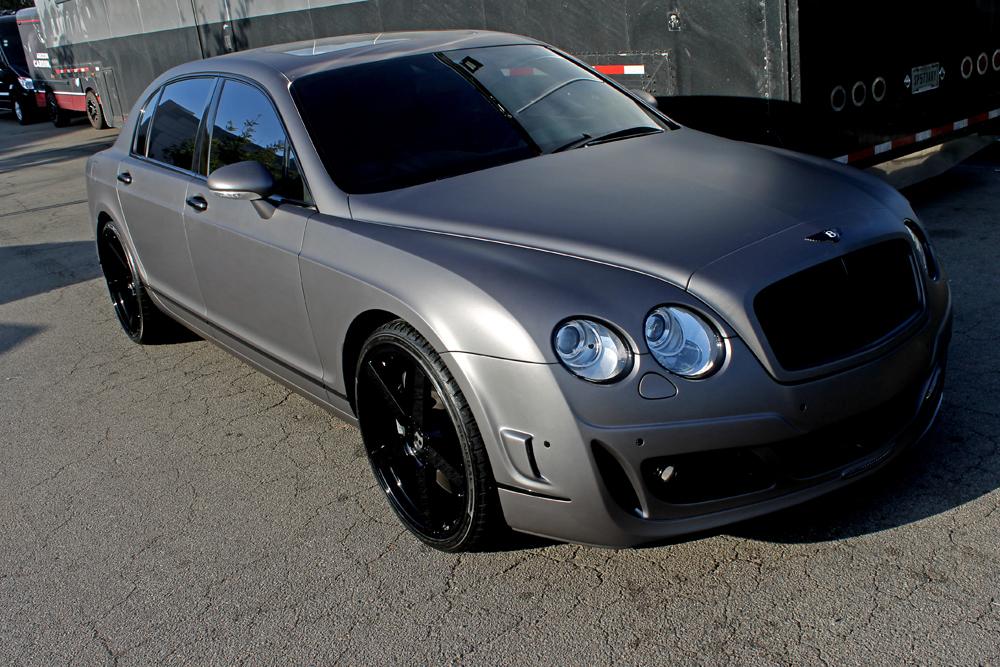 Charcoal Matte Metallic Wrap Bentley Wrapfolio