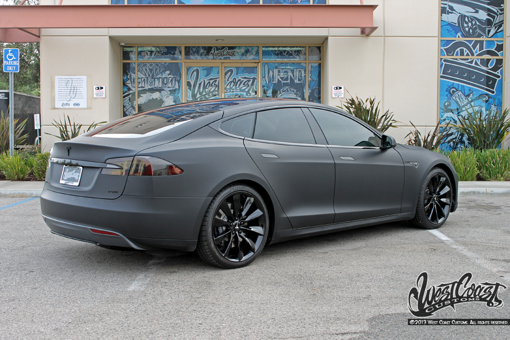 Tesla Model S Matte Black Wrap Wrapfolio