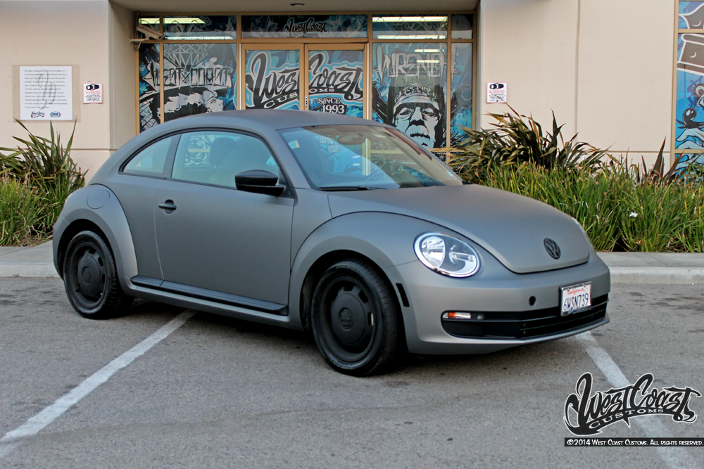 Beetle Gunmetal Matte Metallic Wrap | Wrapfolio