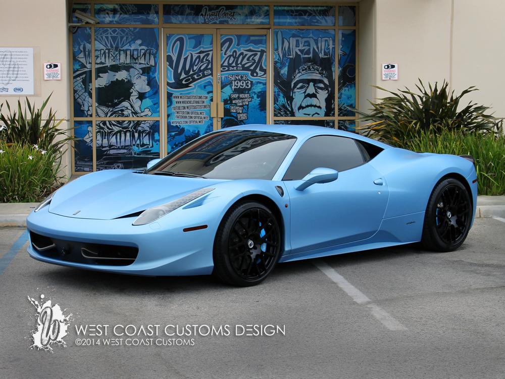 Justin Bieber Ferrari Blue