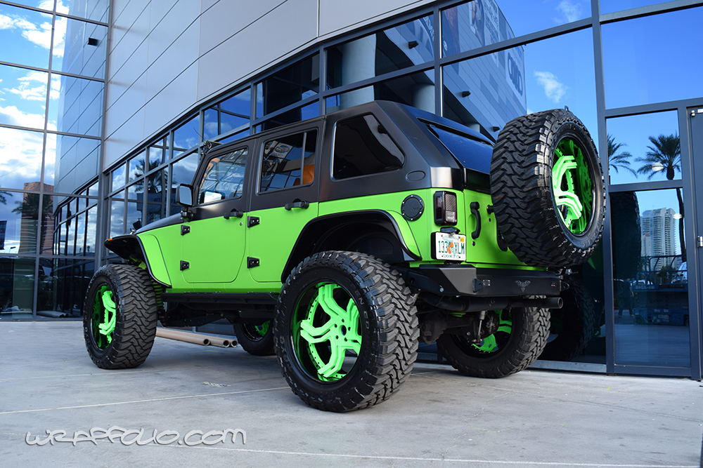 lime green jeep - 1000×667