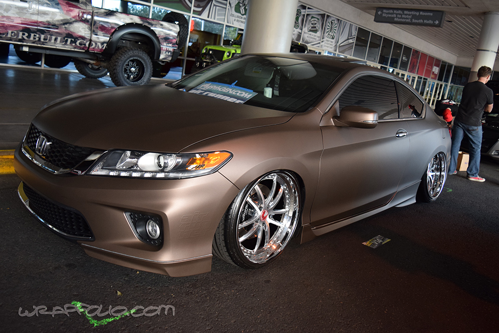 Matte Brown Metallic Honda Accord Wrapfolio