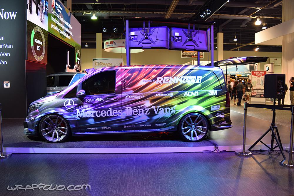 Mercedes Cargo Van >> Renntech DJ Van Wrap | Wrapfolio