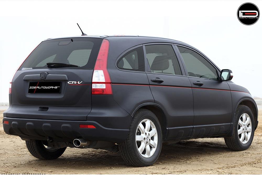 Matte Black Honda CRV Wrap  Wrapfolio