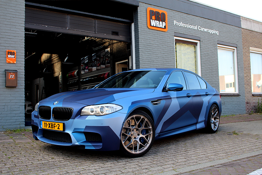 Blue Camo M5 Wrap Wrapfolio
