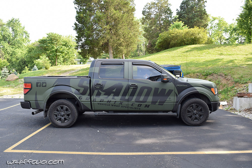 Shadow Graphix Matte Green F 150 Wrap Wrapfolio