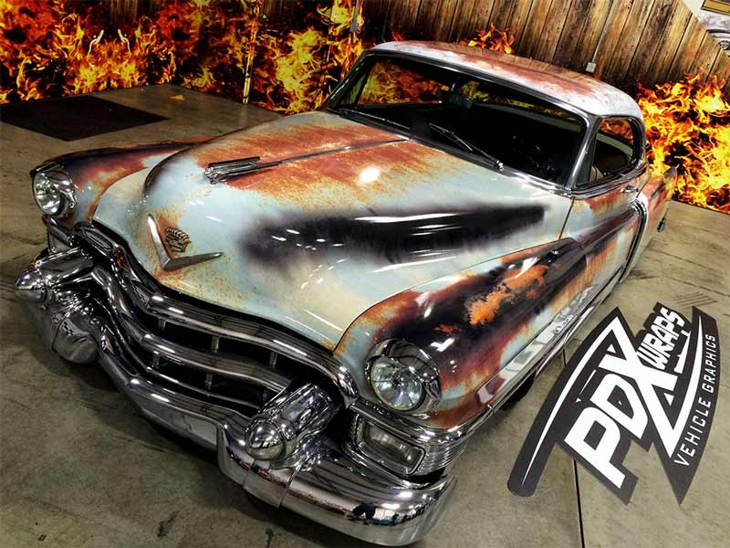 Cadillac Coupe De Ville Patina Rust Wrap Wrapfolio