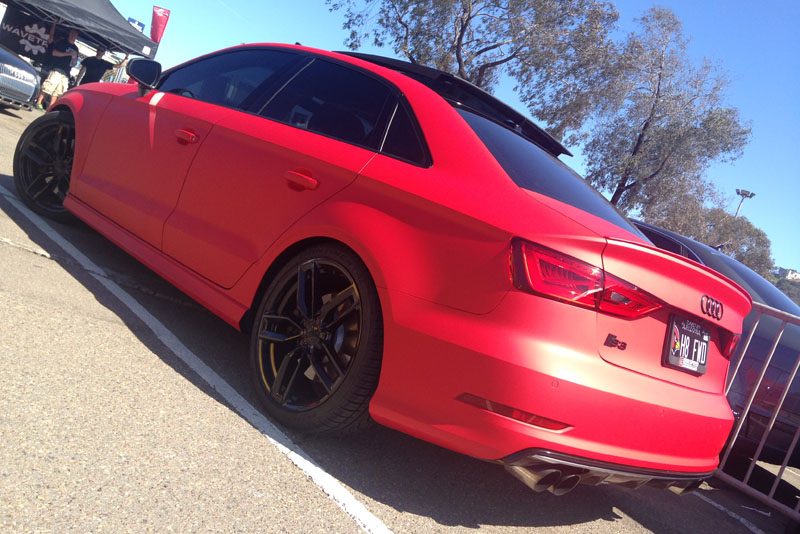 Matte Red Audi S3 Wrapon Audi S3 Sedan
