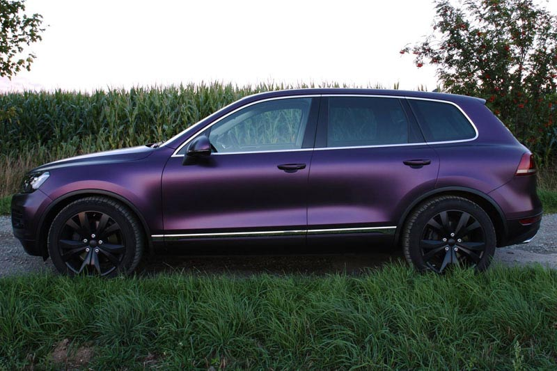 Pwf Matte Midnight Purple Metallic Toureg Wrapfolio