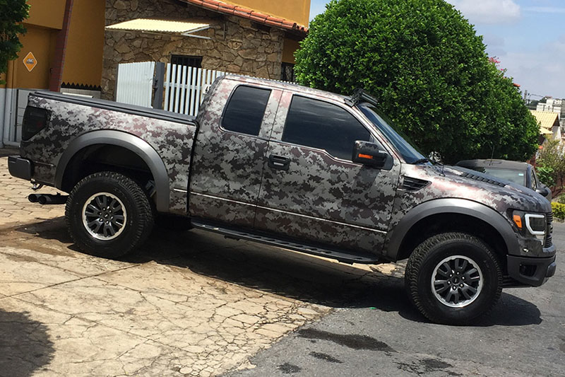 Ford Raptor Digital Camo Wrap Wrapfolio