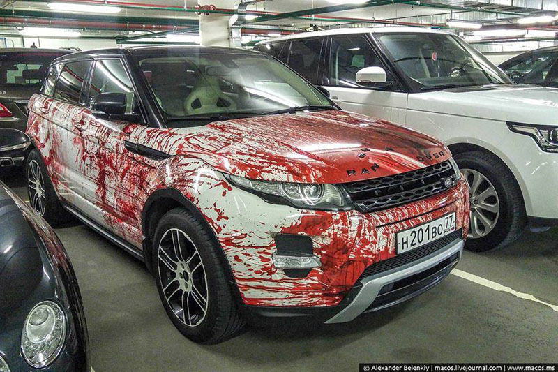 Bloody Range Rover Wrapfolio