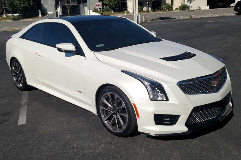 Cadillac Ats V For Sale >> Satin Pearl White Cadillac ATS-V Wrap | Wrapfolio