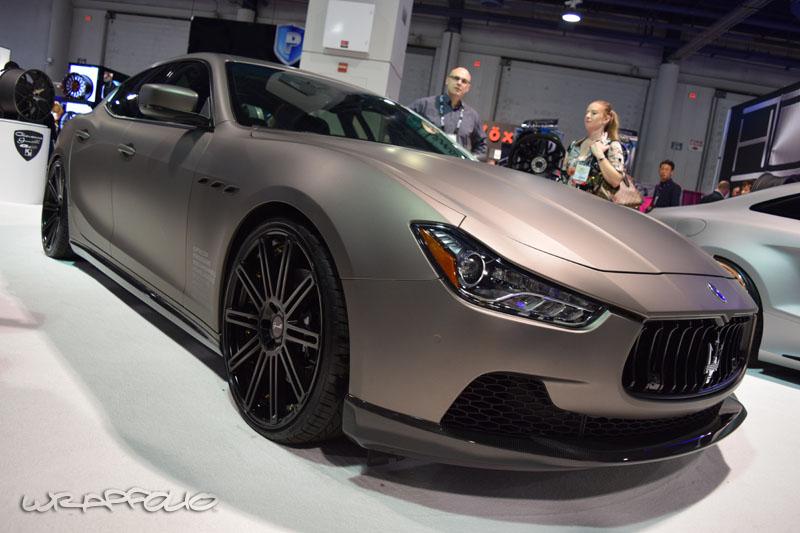 Giovanna Matte Metallic Grigio Maserati Ghibli Wrap