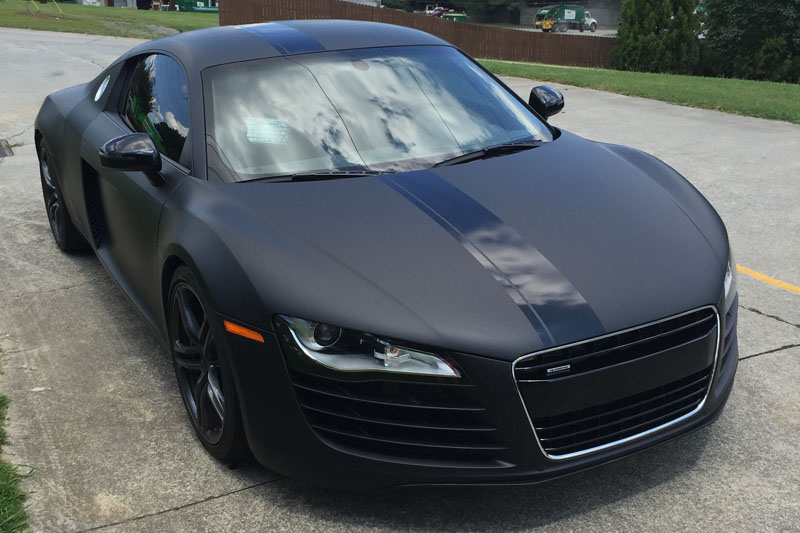 Matte Deep Black Audi R8 Wrap | Wrapfolio