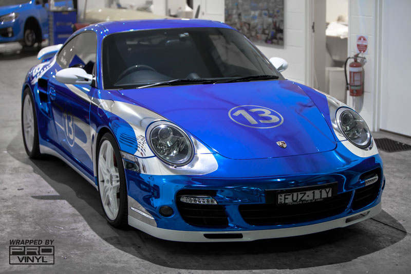 Matte Green 4runner >> Blue Chrome Porsche | Wrapfolio