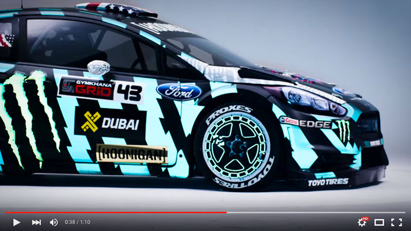 video check out ken block 39 s new gymkhana 8 ultra reflective wrap wrapfolio. Black Bedroom Furniture Sets. Home Design Ideas