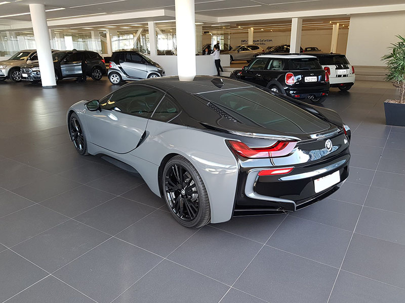 Black And Gray Bmw I8 Wrap Wrapfolio