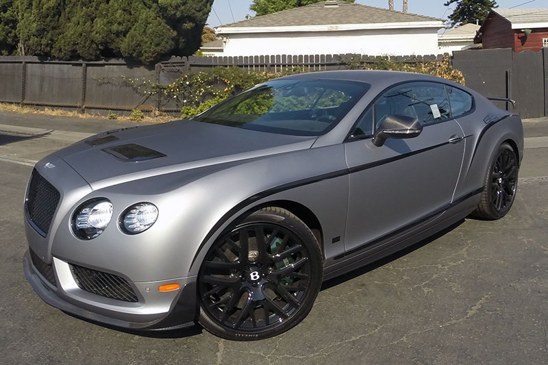 Frozen Grey Bentley Continental Gt3r Wrap Wrapfolio