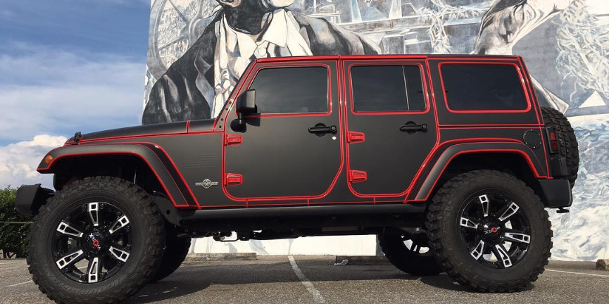 Types Of Jeeps >> Tron style Jeep Wrangler wrap | Wrapfolio