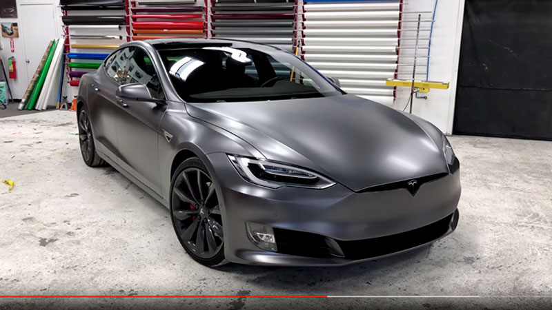 Why Wrap Tesla Model S In Satin Dark Grey Wrapfolio